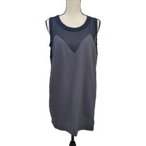 Chloe K Illusion Top, Size M, Blue and Gray